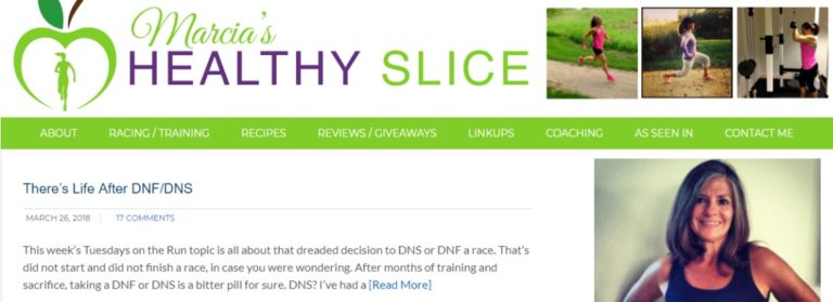Marcia's healthy slice running blog